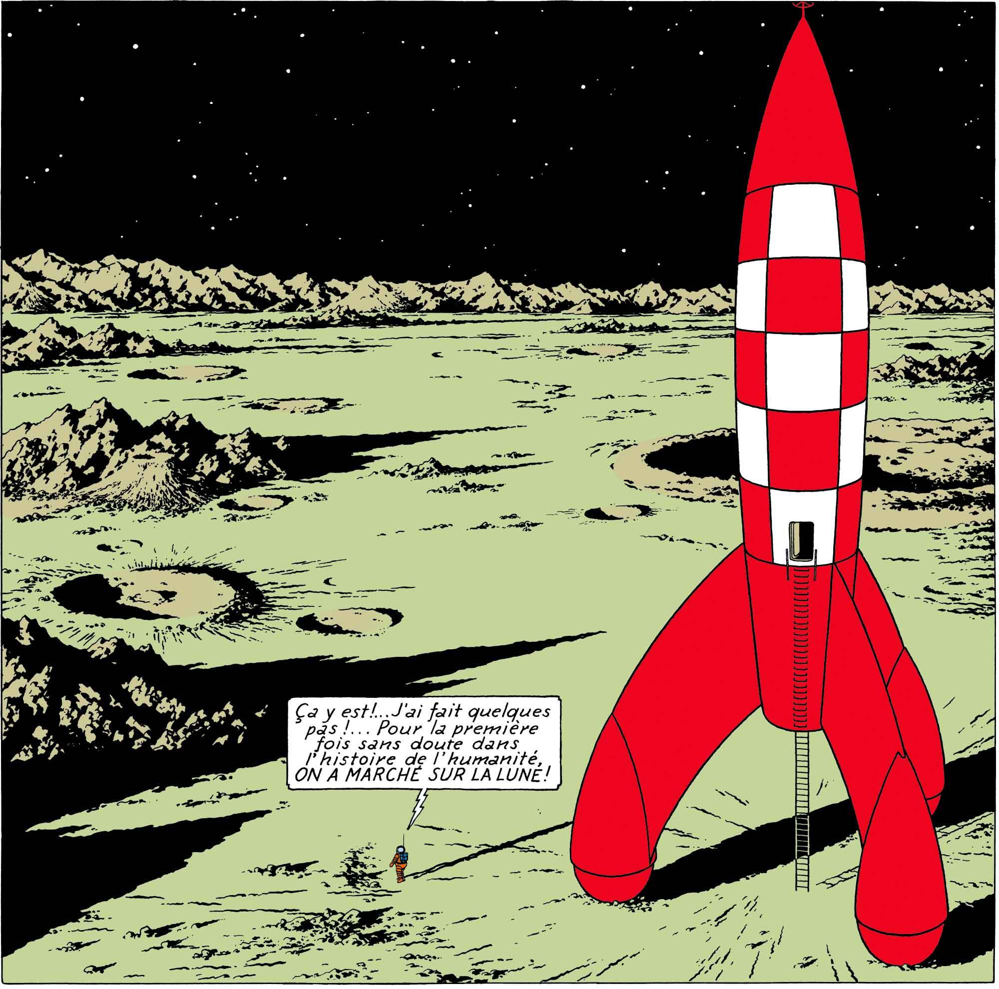 Tintin - Les Aventures de Tintin - On a marché sur la Lune - Fusée Lune