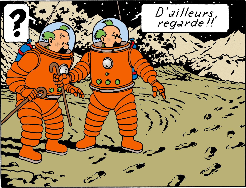 Tintin - Les Aventures de Tintin - On a marché sur la Lune - Dupondt sur la Lune