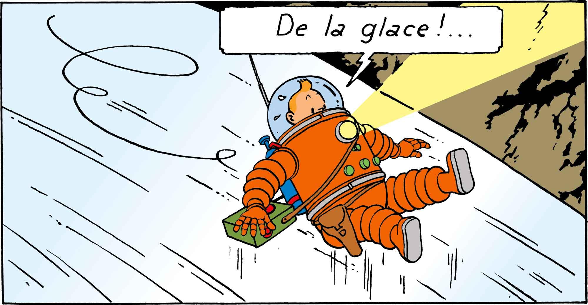 Tintin - Les Aventures de Tintin - On a marché sur la Lune - Glace sur la Lune