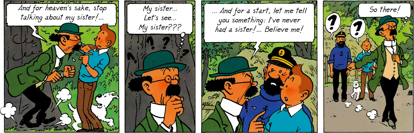 Calculs have never had sister - Tintin and the Picaros