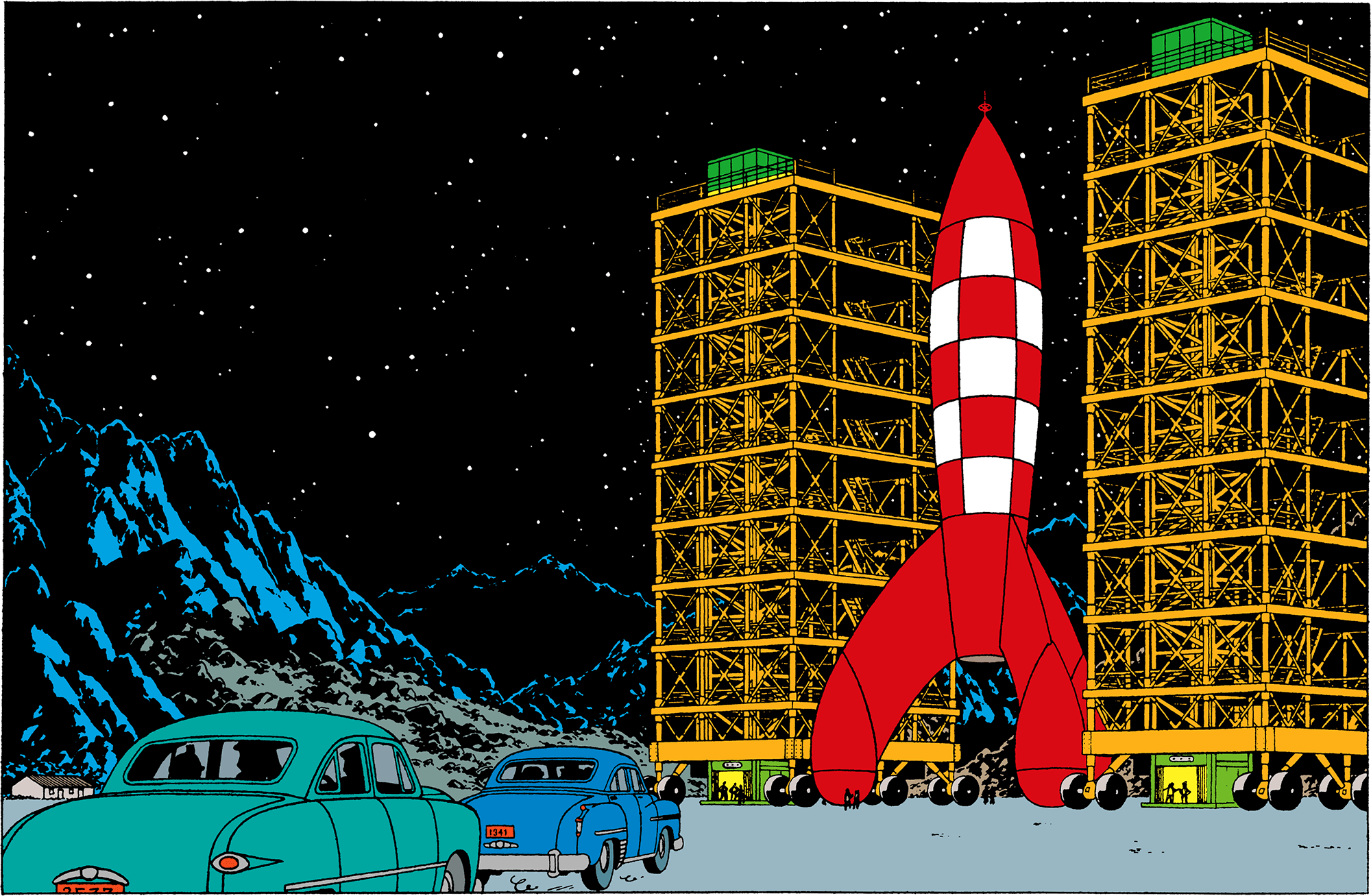 The nuclear-powered Moon rocket