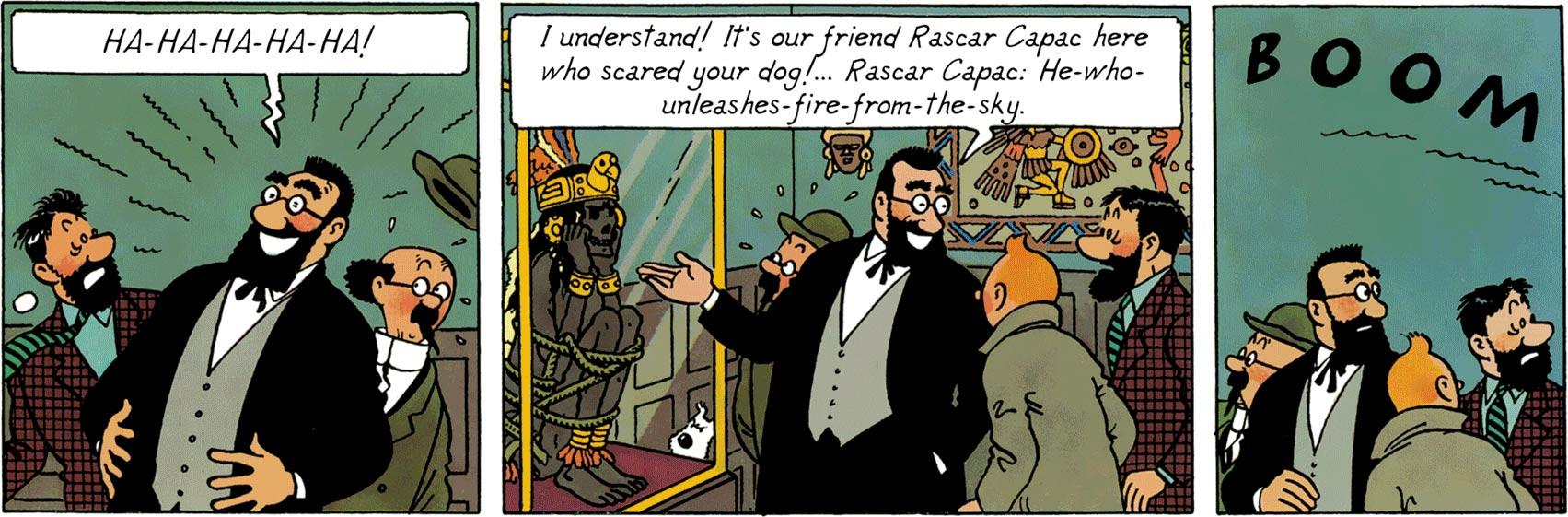 Tarragon presents the mummy, Inca king, Rascar Capac