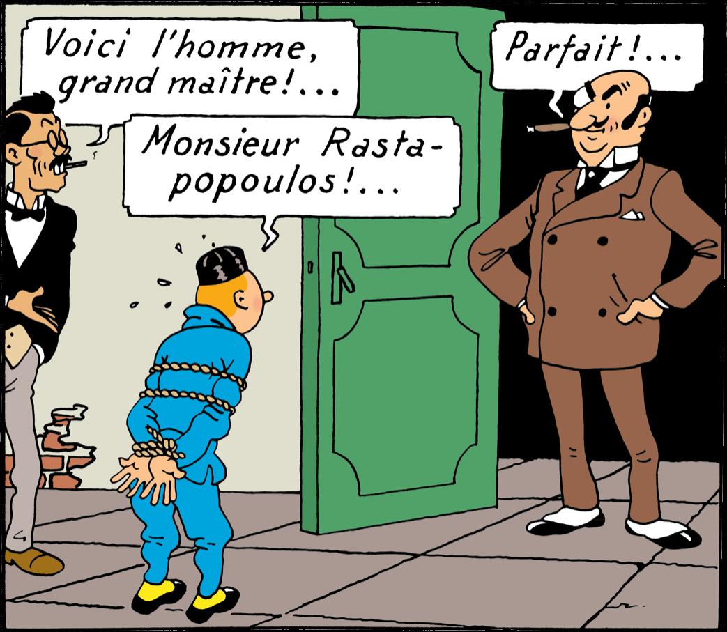 Tintin - Les Aventures de Tintin - Personnage Rastapoulos