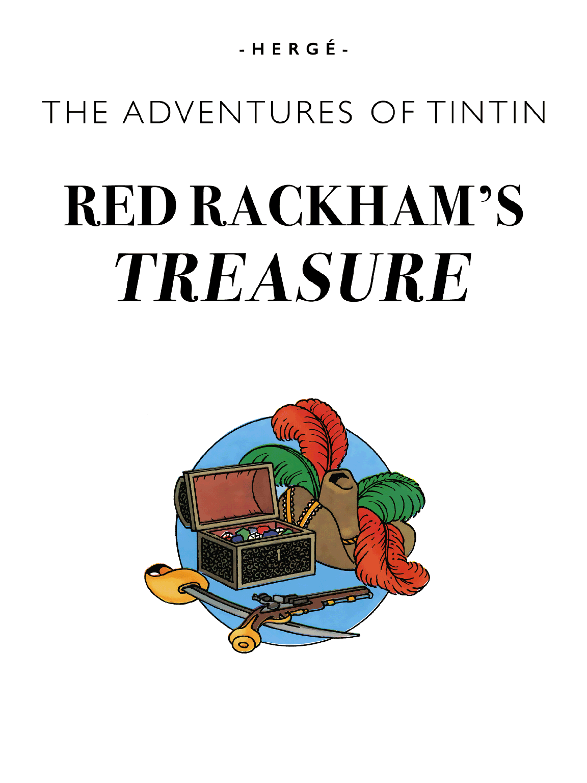 Red Rackham's Treasure - Title page