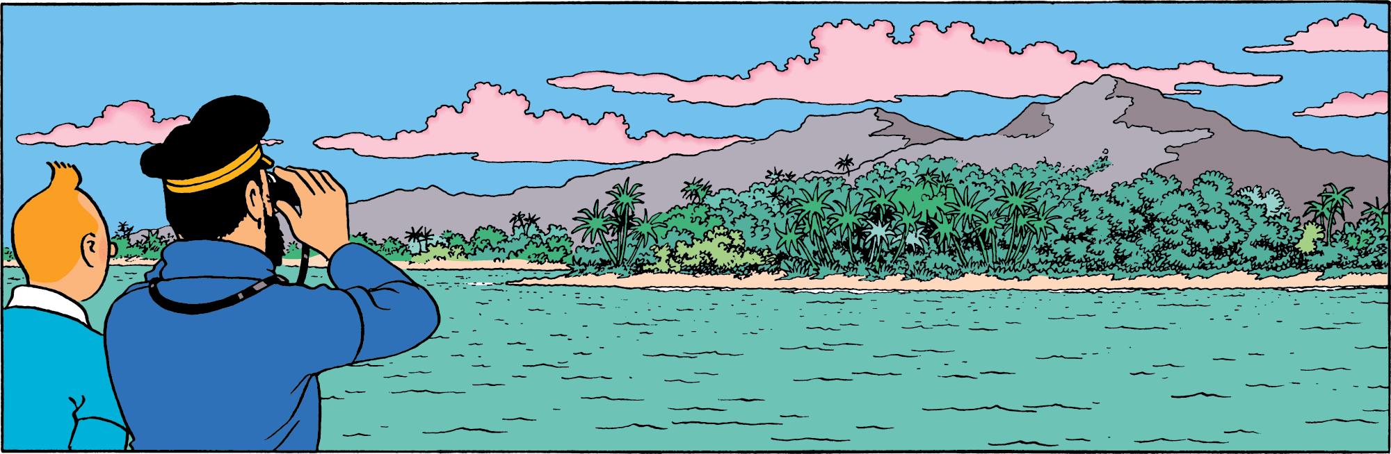 Red Rackham's Treasure, Haddock and Tintin