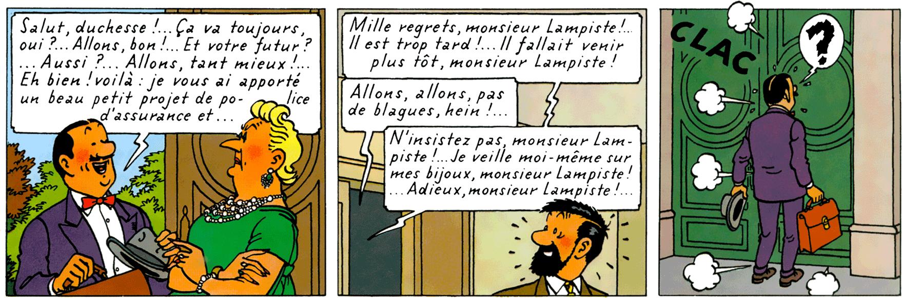 Séraphin Lampion dans Les Bijoux de la Castafiore