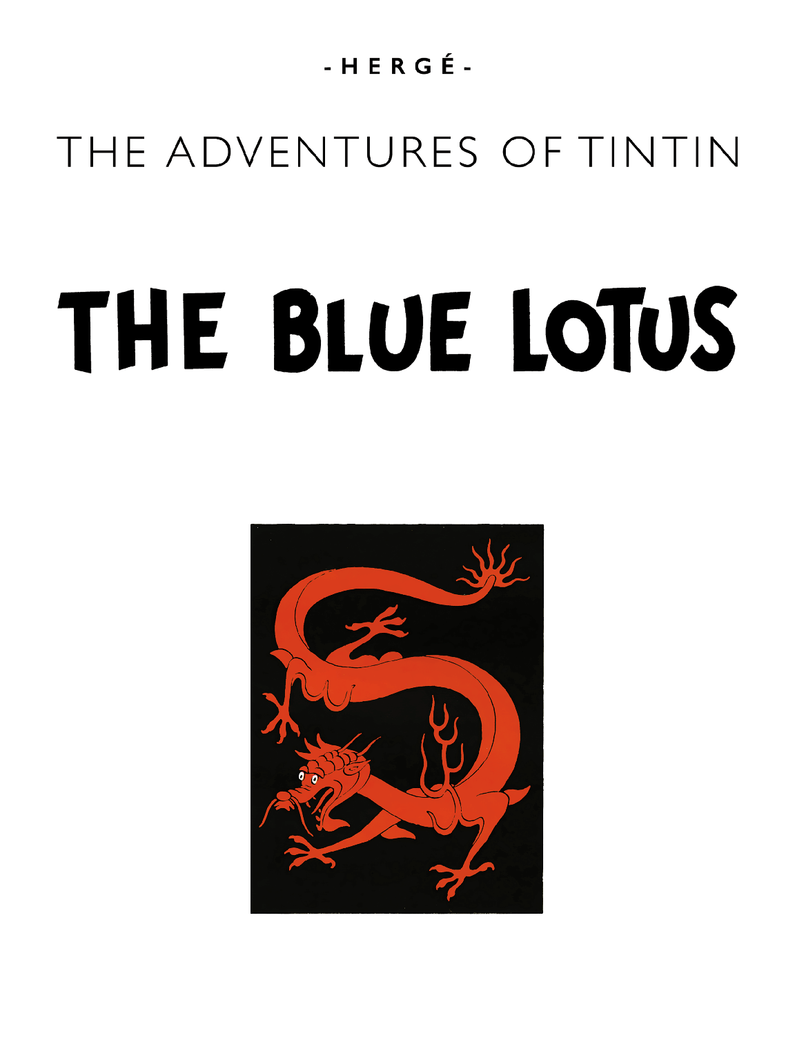 The Blue Lotus - Title page