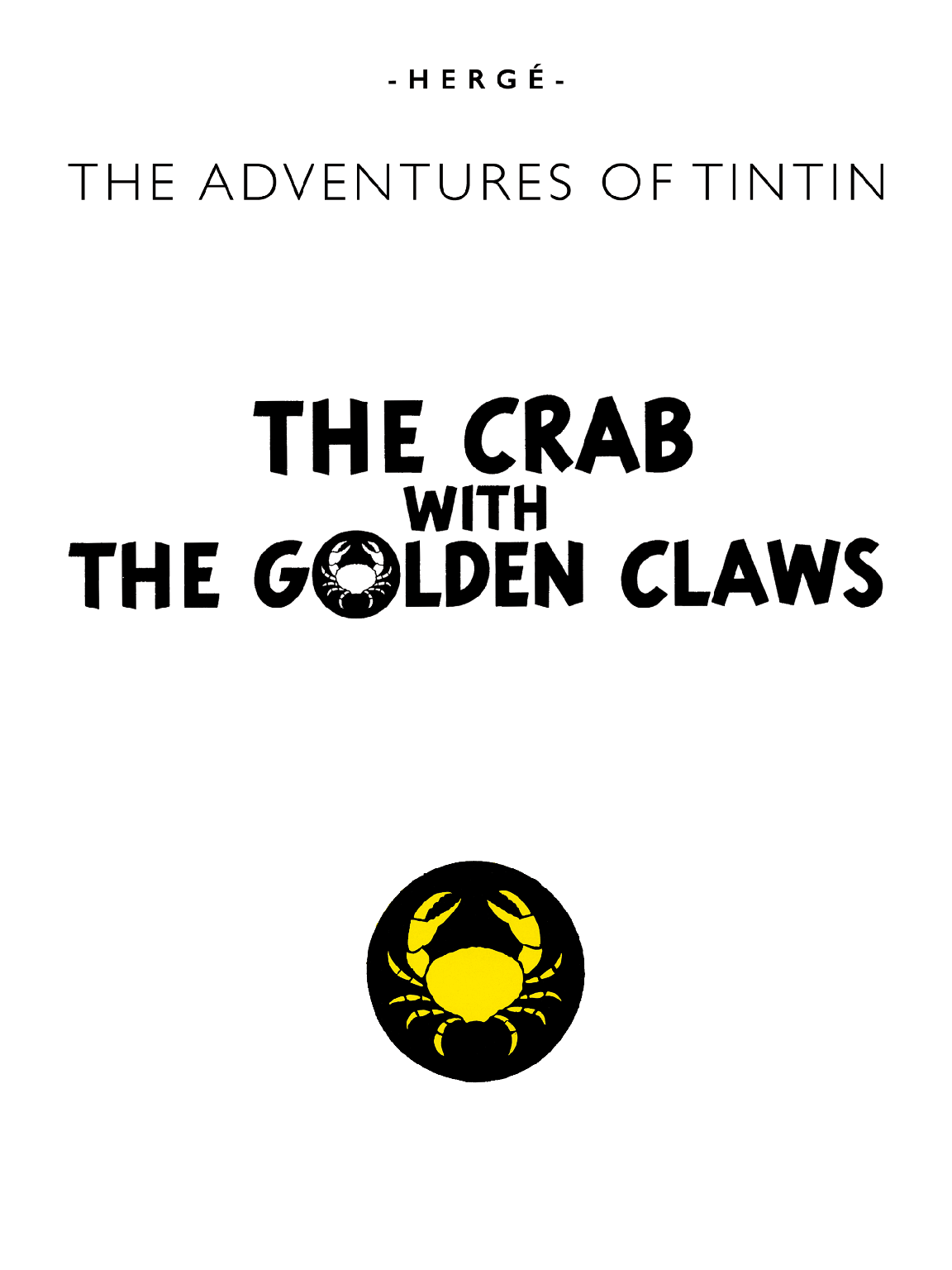 The Crab with the Golden Claws - Page 1