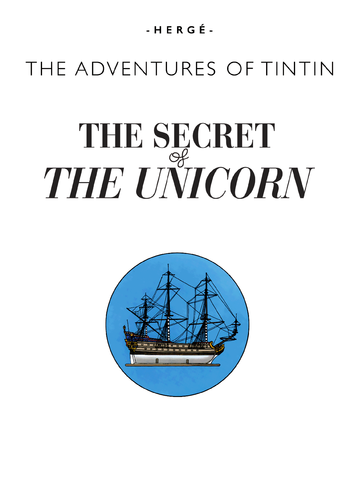 The Secret of the Unicorn - Title page