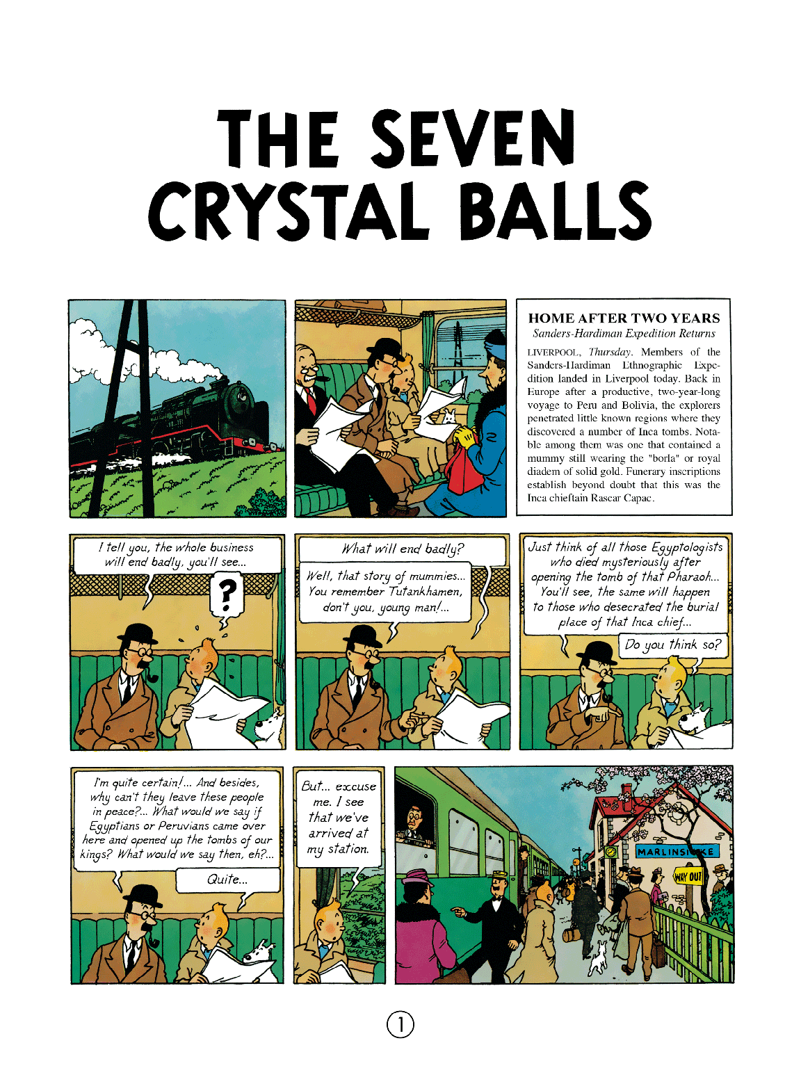 The Seven Crystal Balls - Page 1