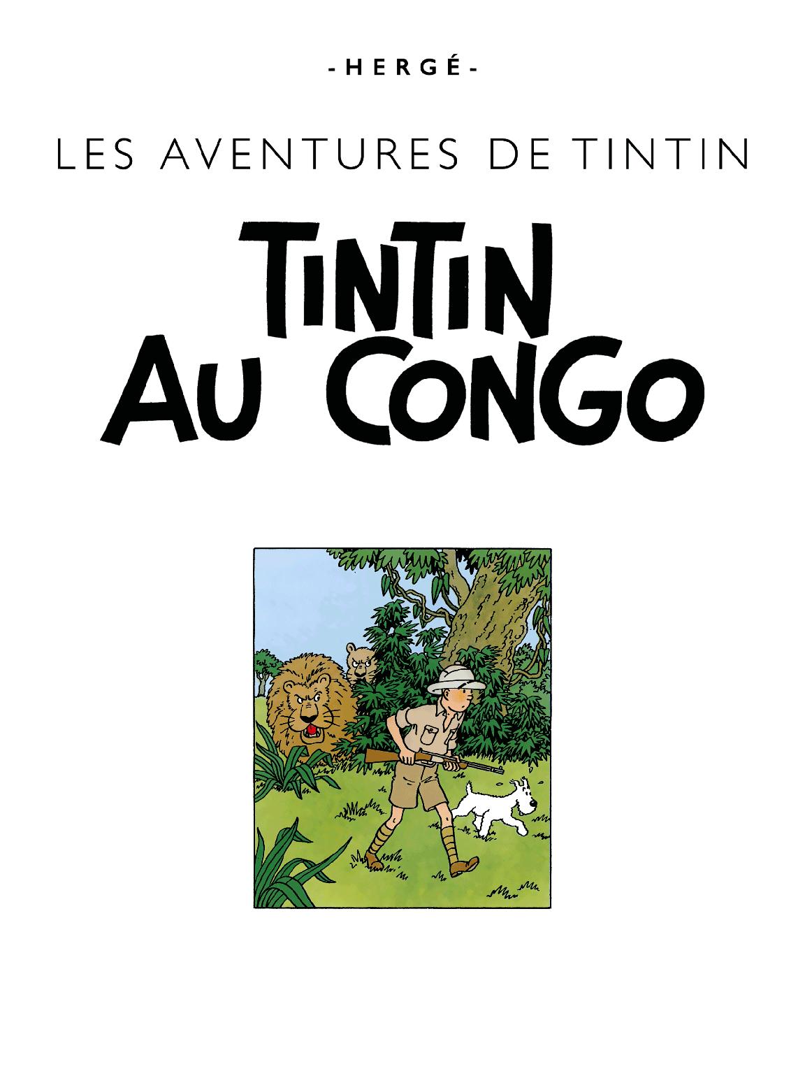 Tintin au Congo - page titre