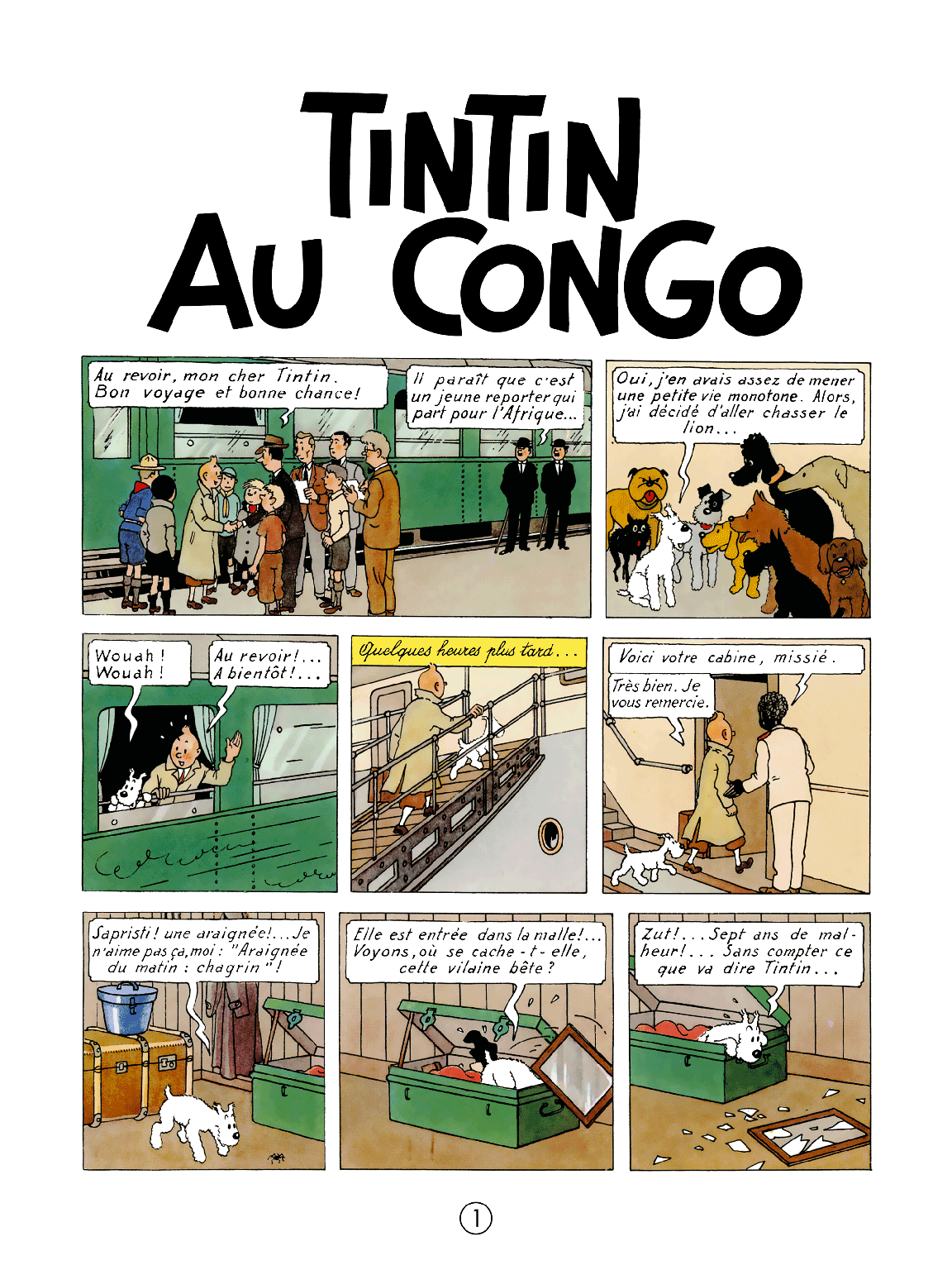 Tintin au Congo - page 1