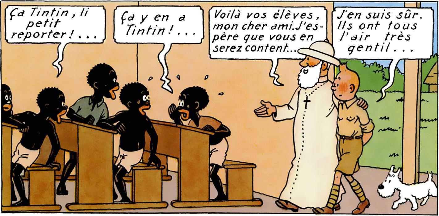 Tintin au Congo Missionnaire catholique