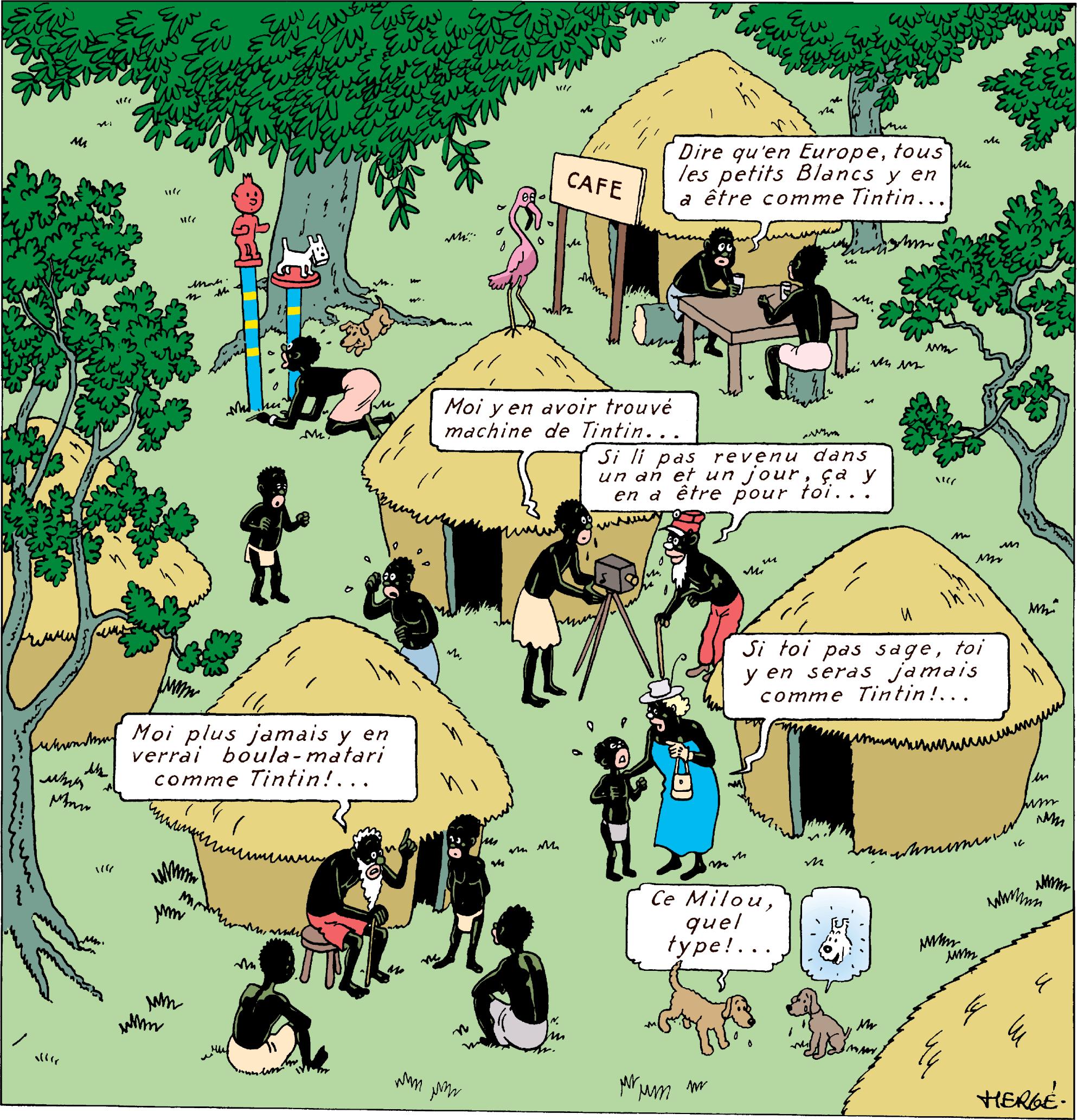 Tintin au Congo dernière page