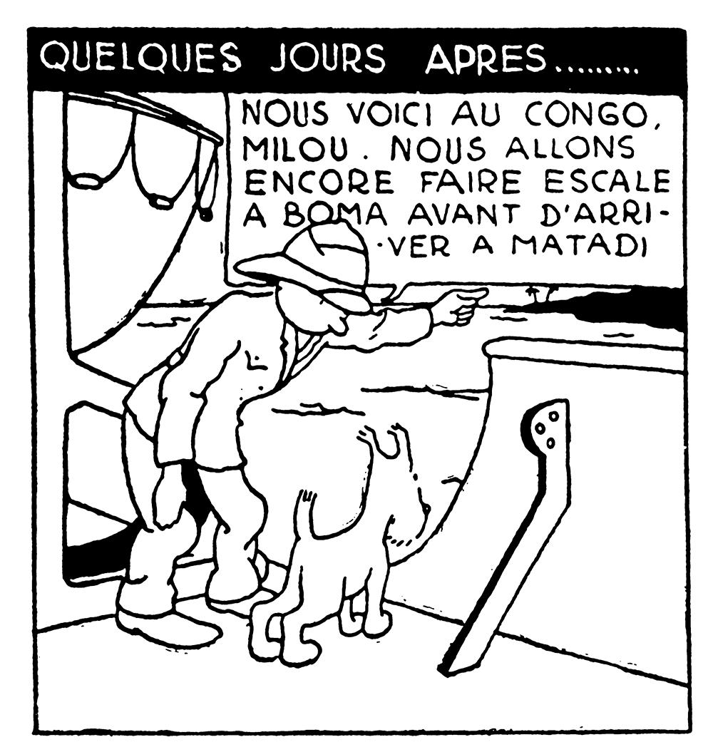 Tintin au Congo Noir et Blanc Nous voici au Congo Milou à Matadi