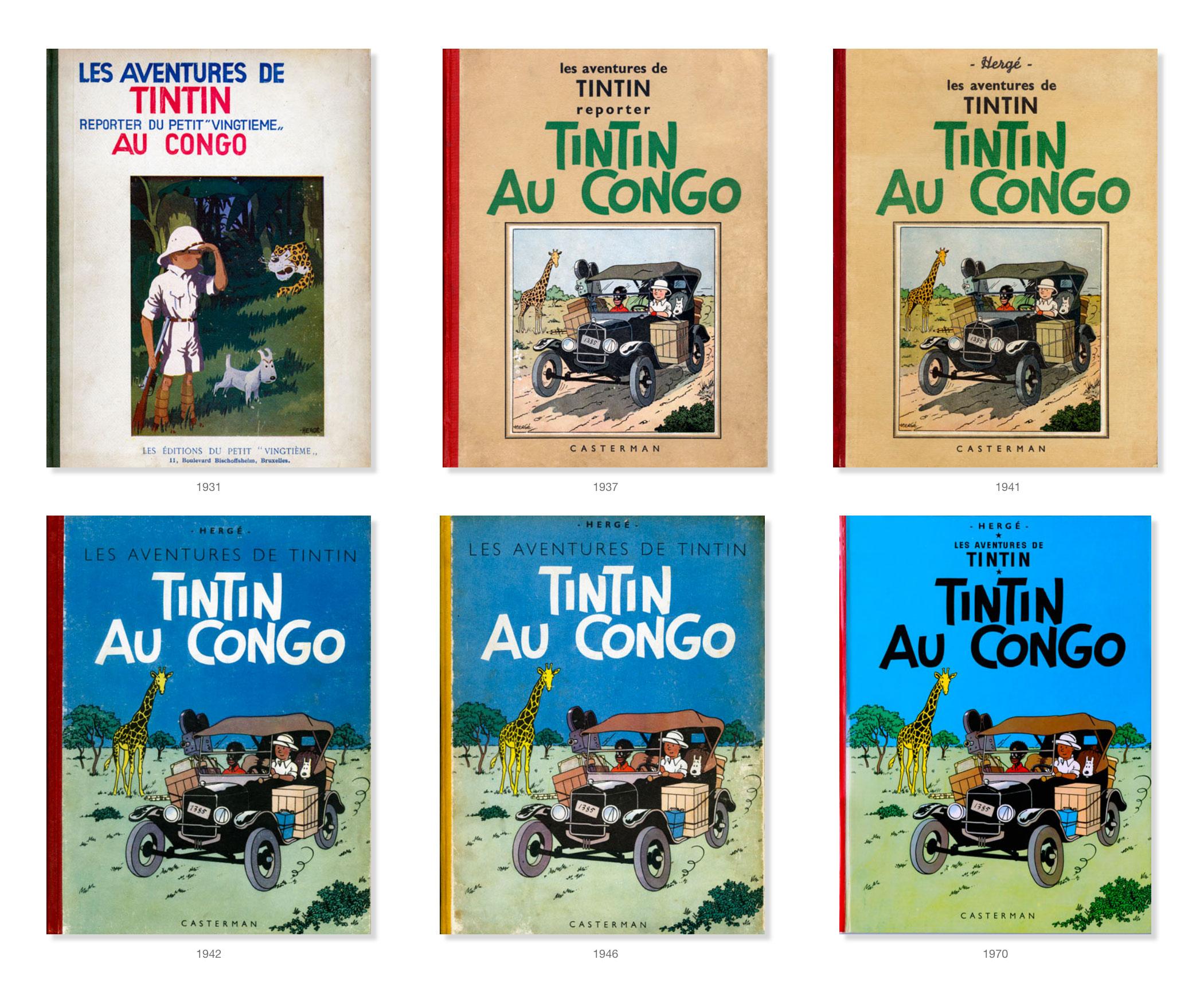 Tintin - Les Aventures de Tintin - Tintin au Congo - Couvertures Album