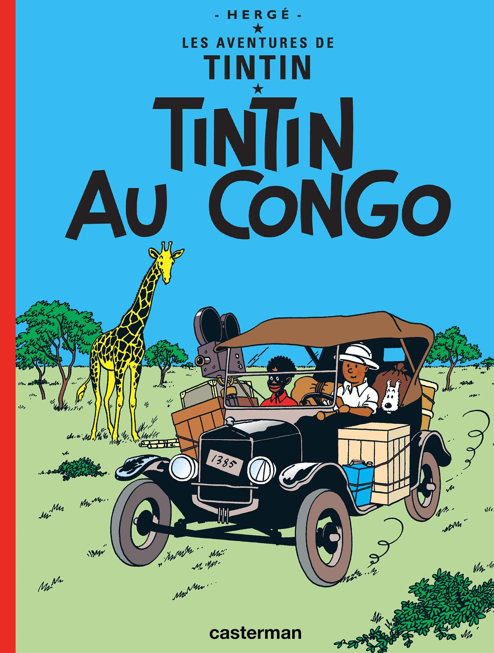 Couverture de l'album Tintin au Congo par Hergé