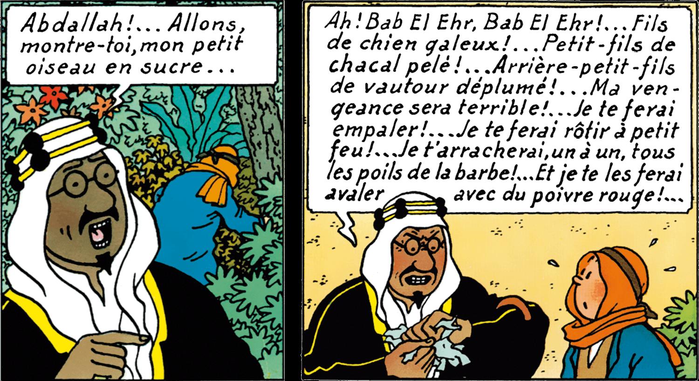L'Émir Mohammed Ben Kalish Ezab dans Tintin au pays de l'or noir