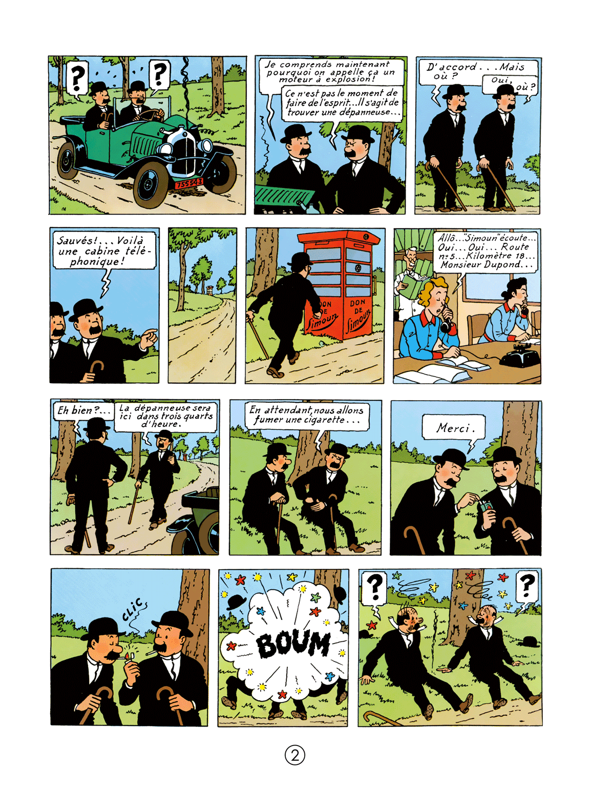 Tintin au pays de l'or noir - page 2
