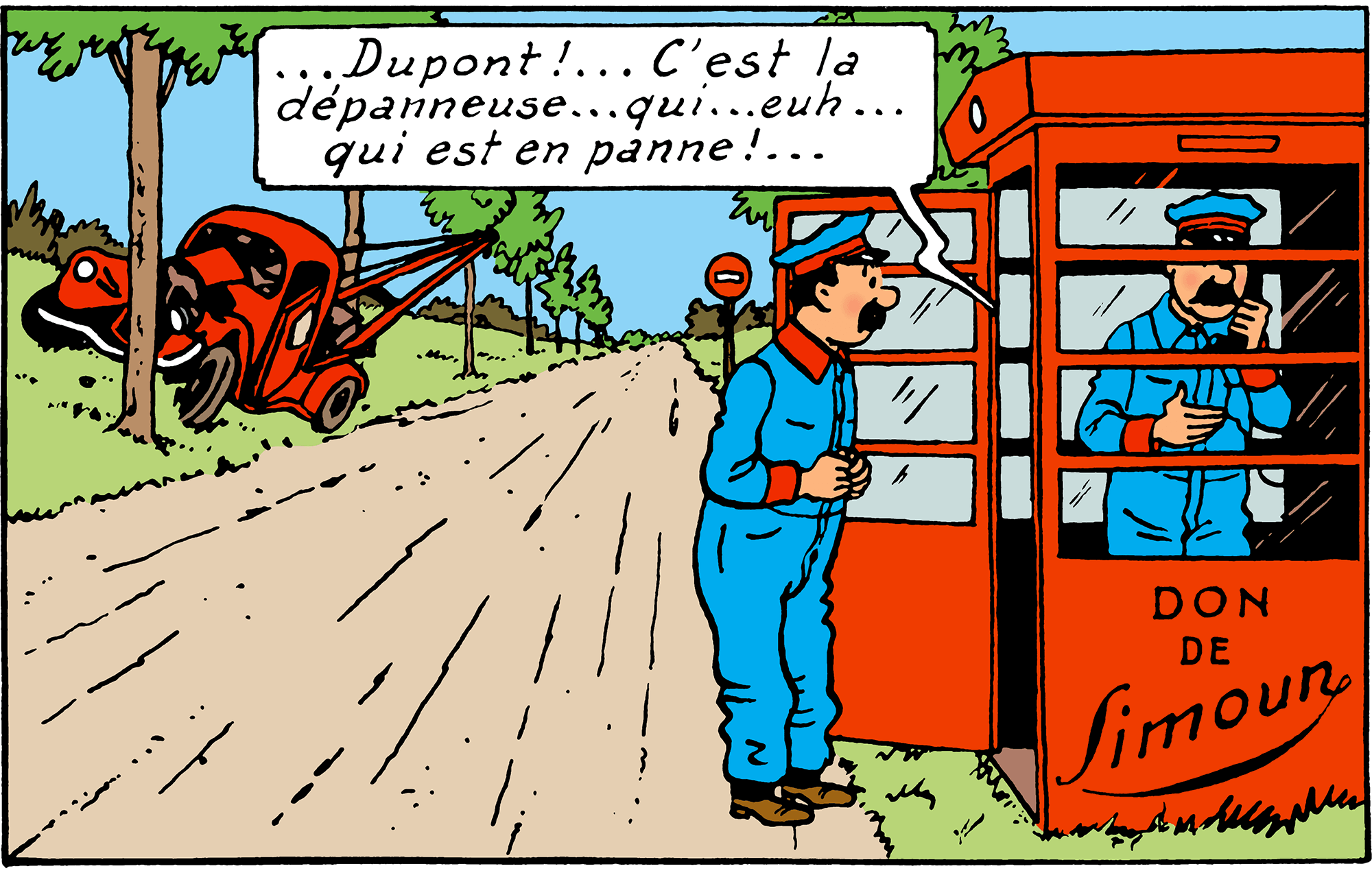 Dépanneuse dans Tintin au pays de l'or noir