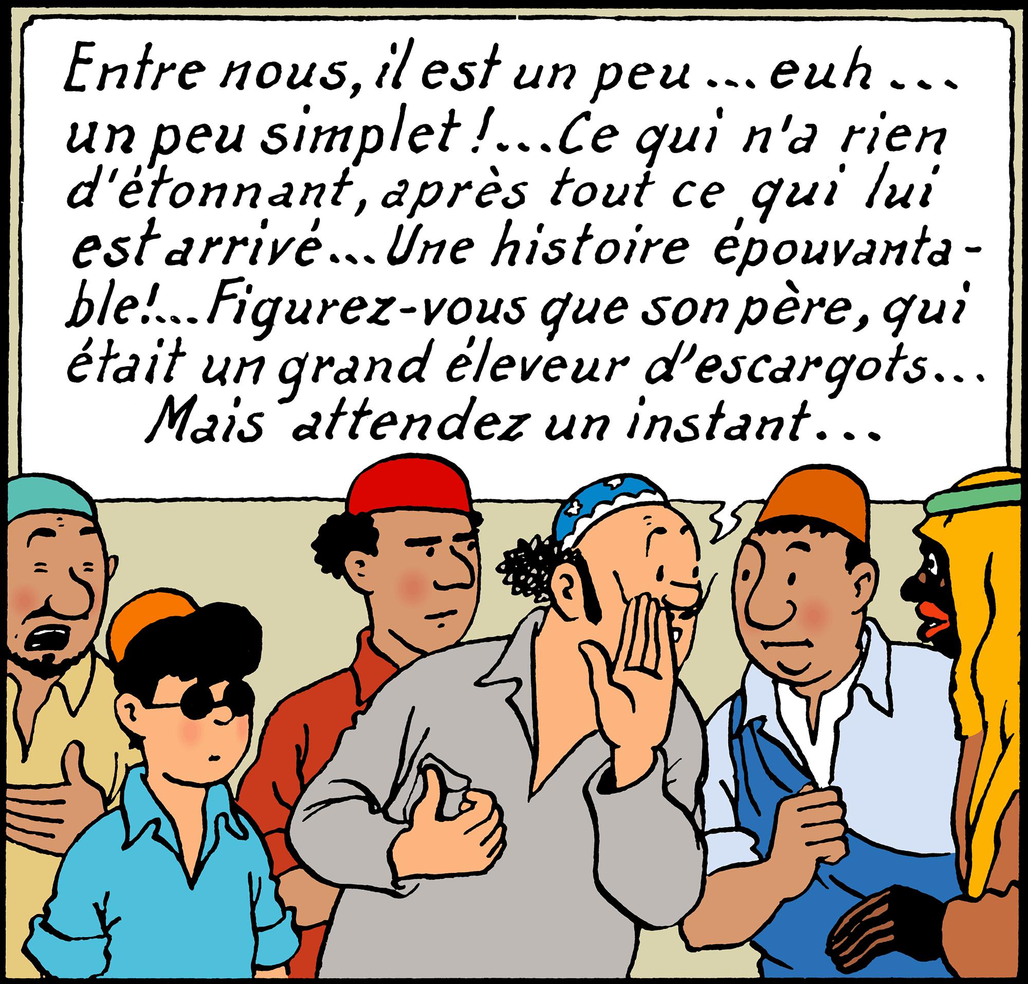 Oliveira da Figueira dans Tintin au pays de l'or noir
