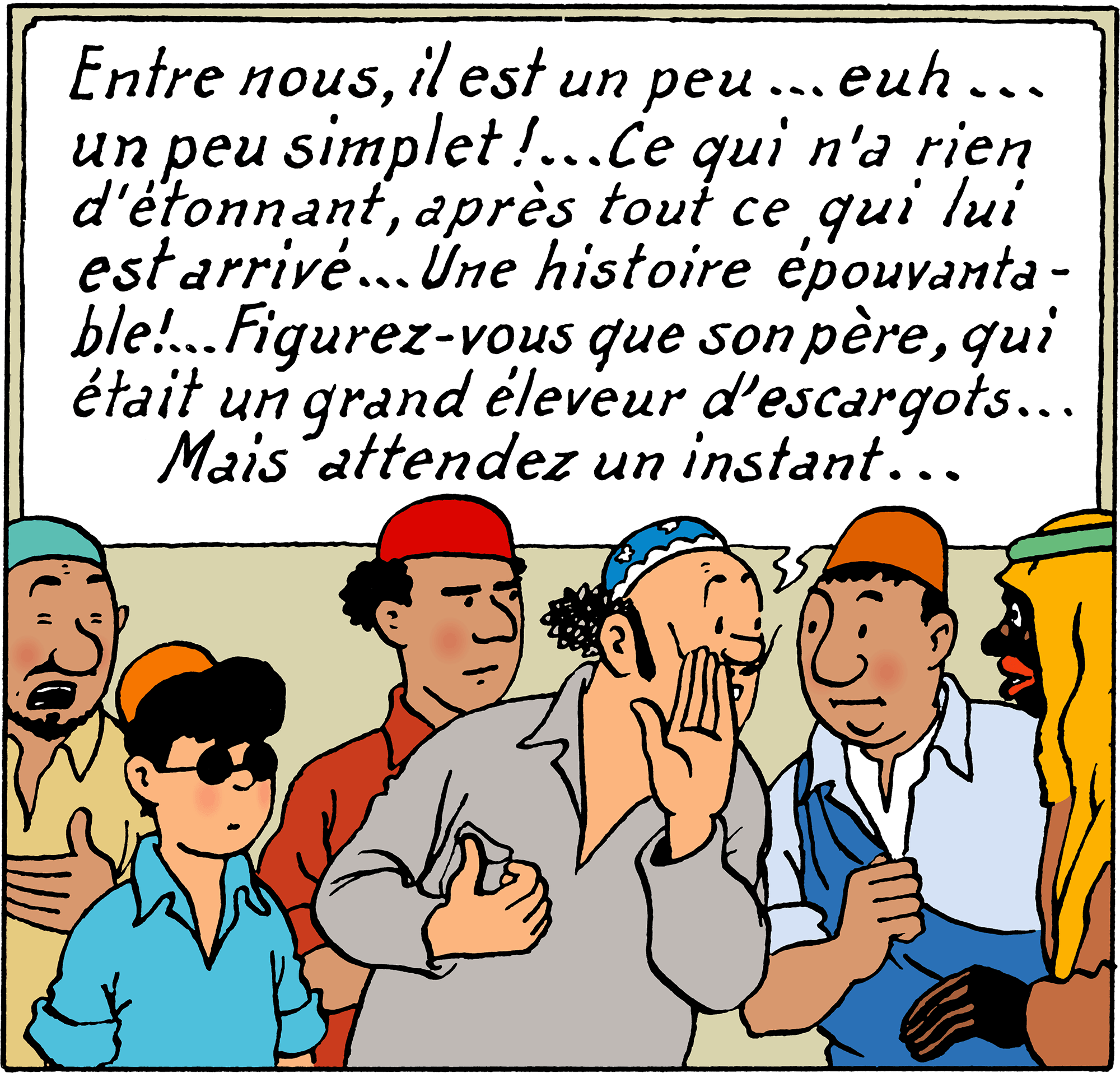 Tintin - Les Aventures de Tintin - Tintin au pays de l'or noir - Personnage Oliveira da Figueira