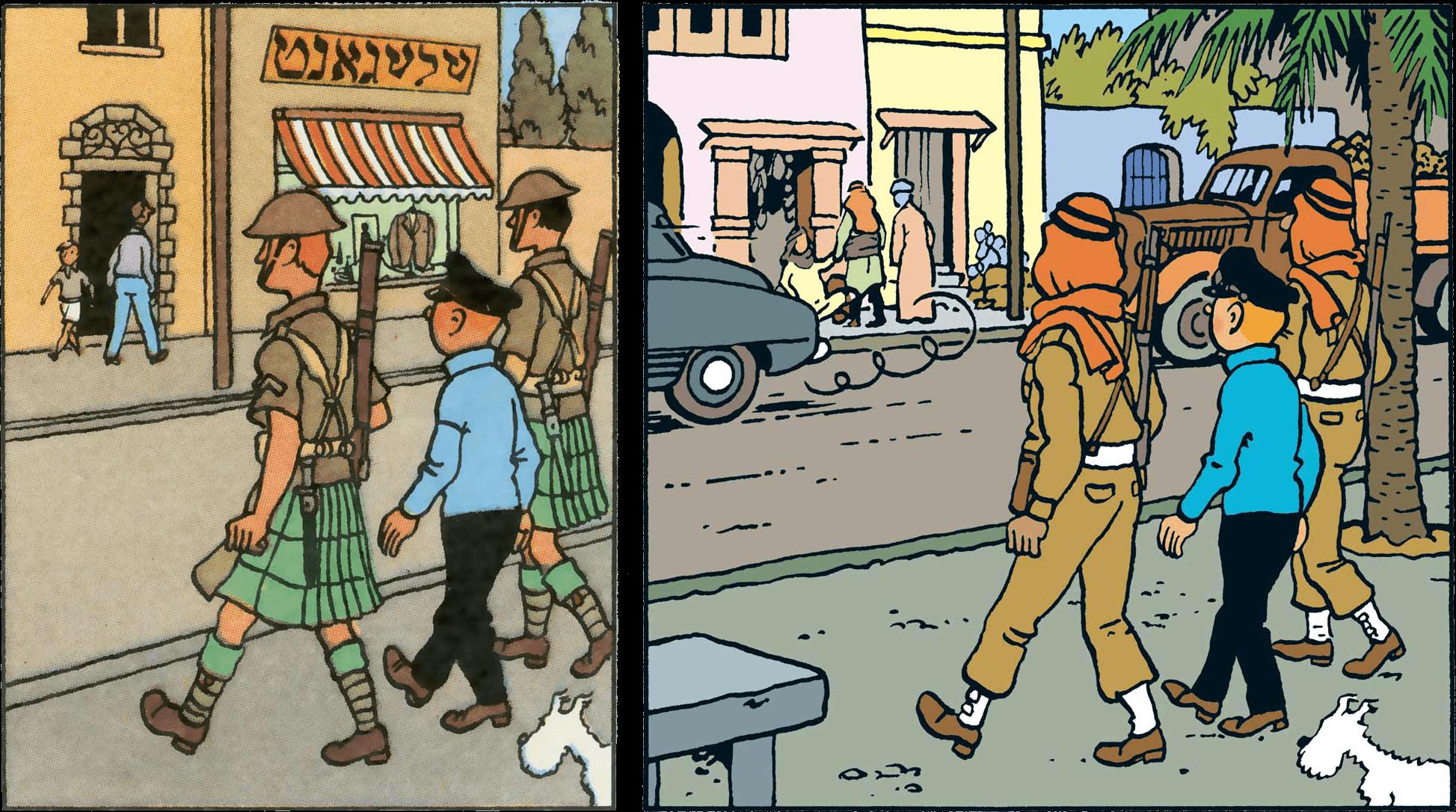 Le Khemed Tintin au pays de l'or noir soldats modifiés