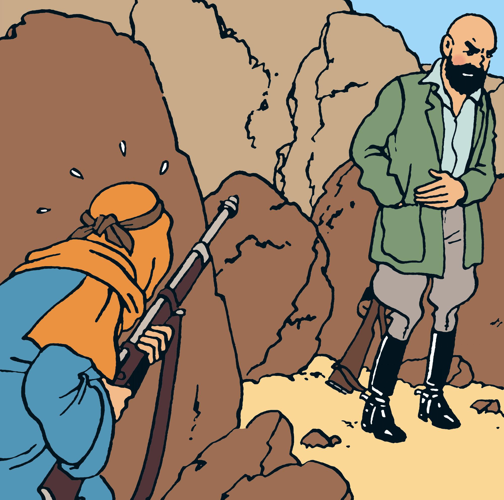 Tintin - Les Aventures de Tintin - Tintin au pays de l'or noir - Personnage Le professeur Smith, archéologue