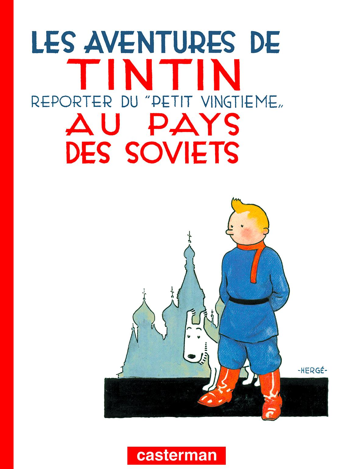 Tintin au pays des Soviets couverture