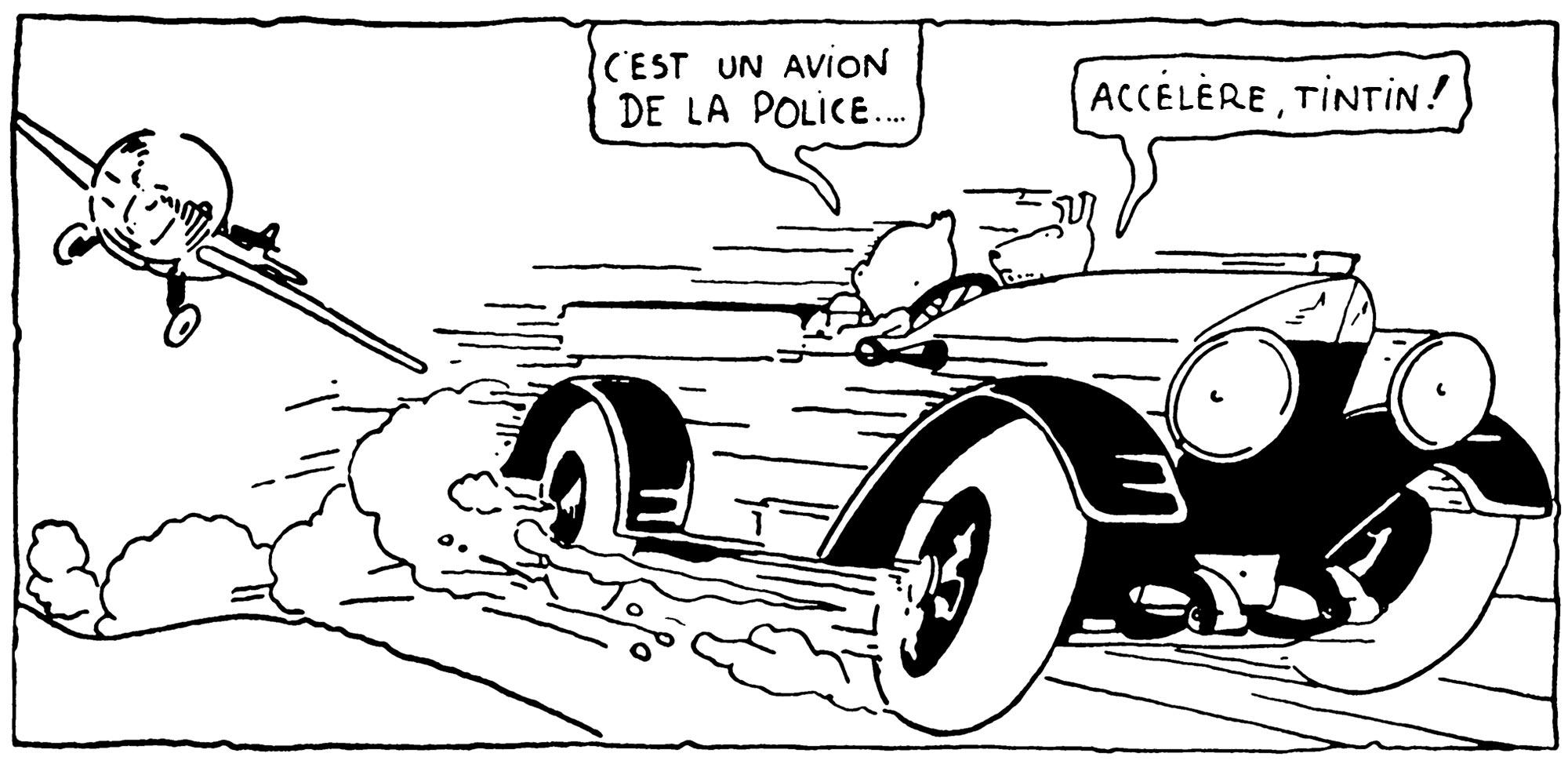 Tintin au pays des soviets la houppette de Tintin se relève