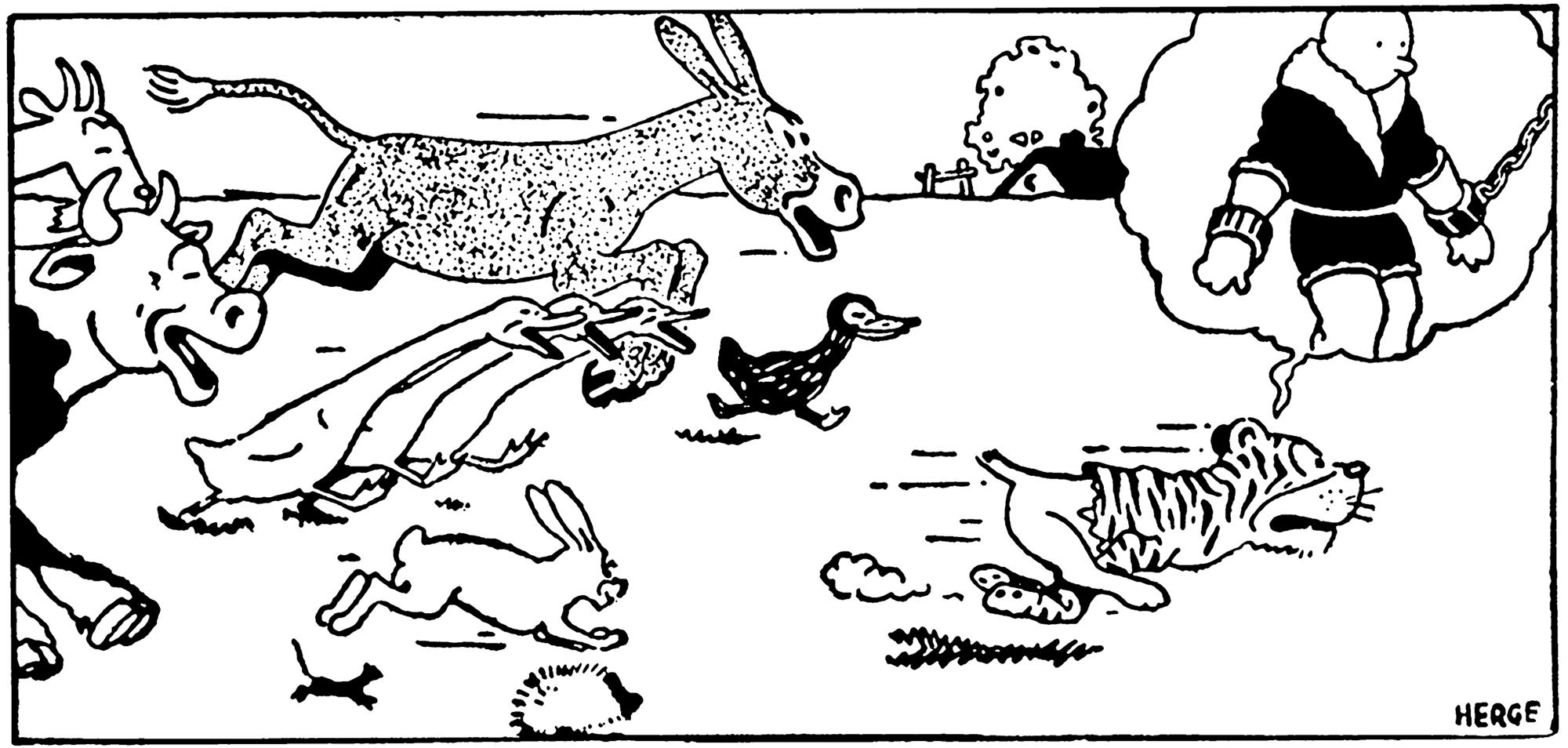 Tintin au pays des soviets animaux Benjamin Rabier