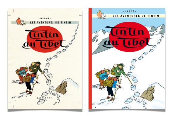 Tintin - Les Aventures de Tintin - Tintin au tibet - Couverture Album