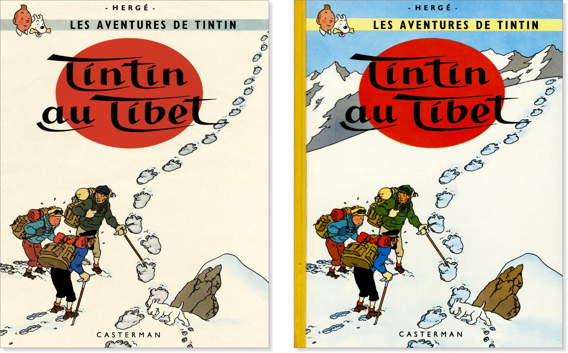 Anciennes couvertures de Tintin au Tibet