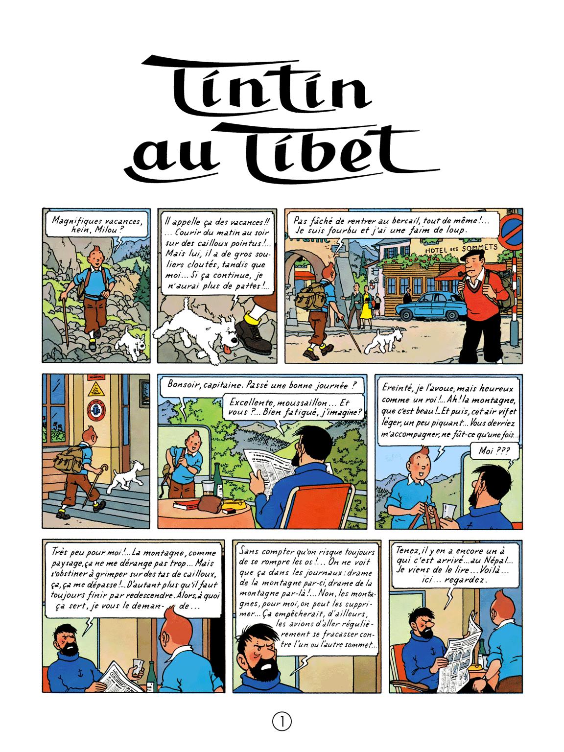 Tintin au Tibet - Page 1
