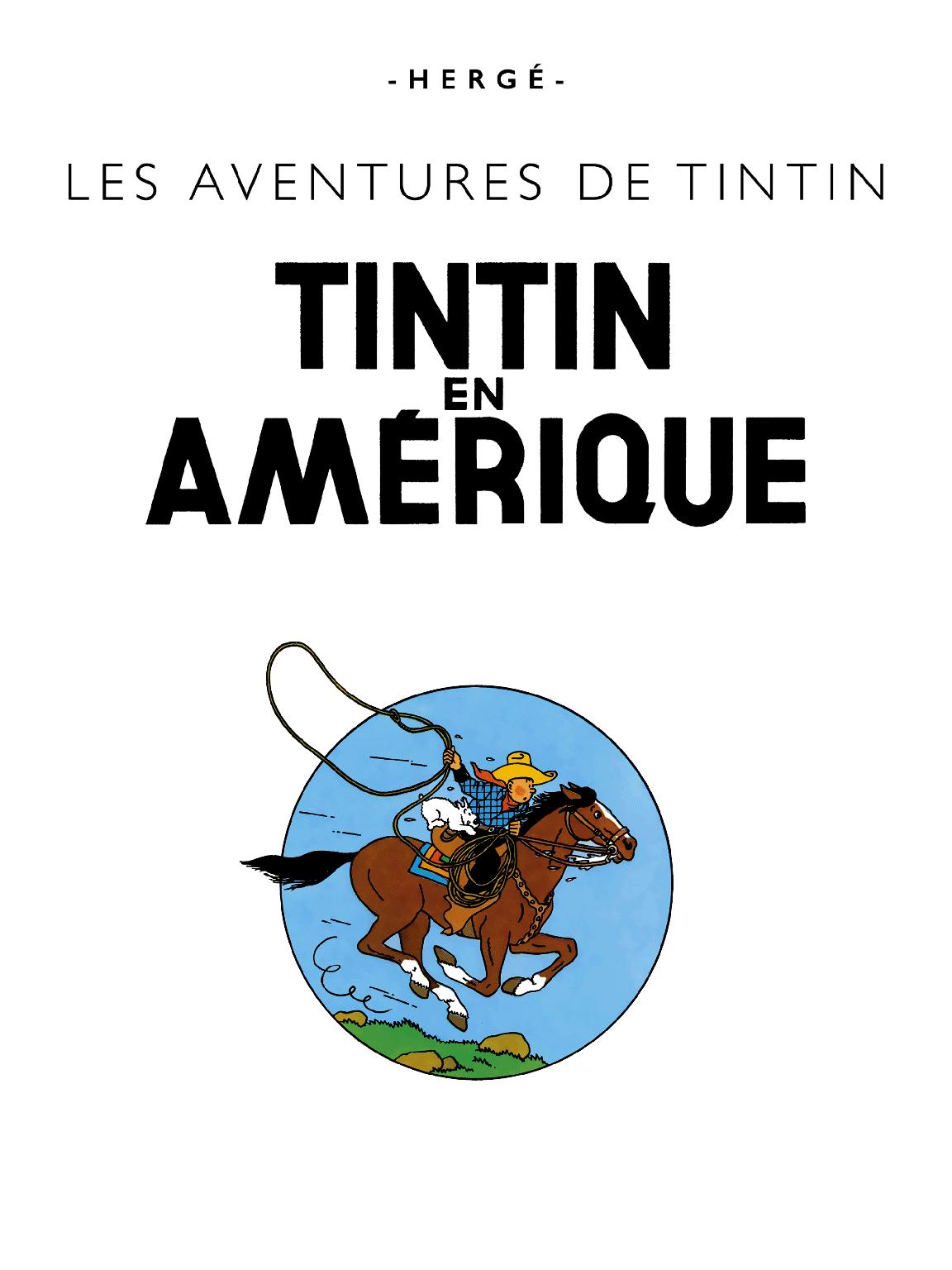 Tintin en Amérique - Page titre