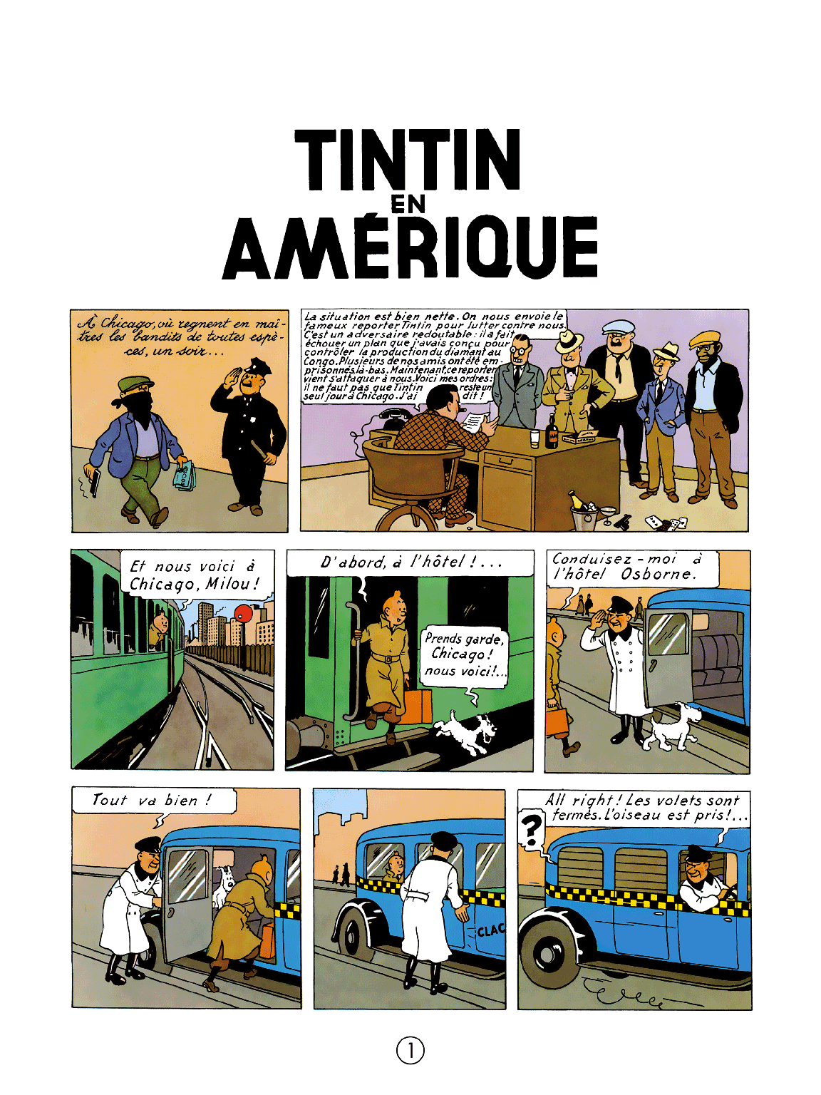 Tintin en Amérique - Page 1