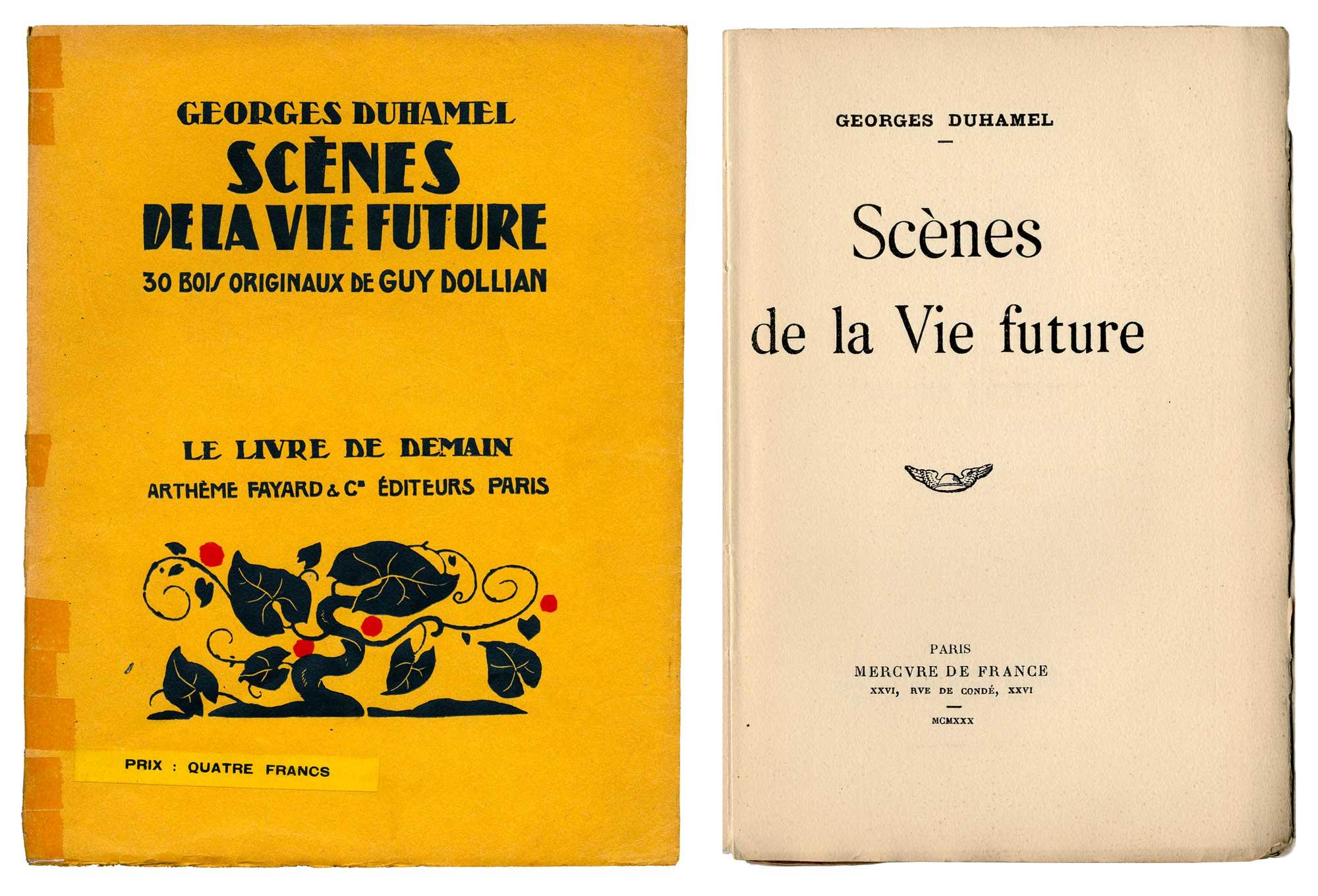 Tintin - Les Aventures de Tintin - Georges Duhamel - Scènes de la vie Future
