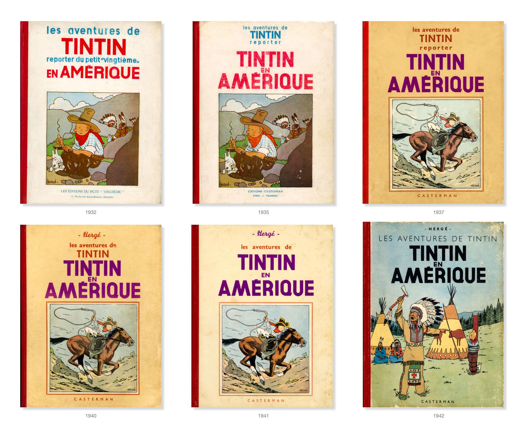 Tintin - Les Aventures de Tintin - Tintin en Amérique - Couvertures Album