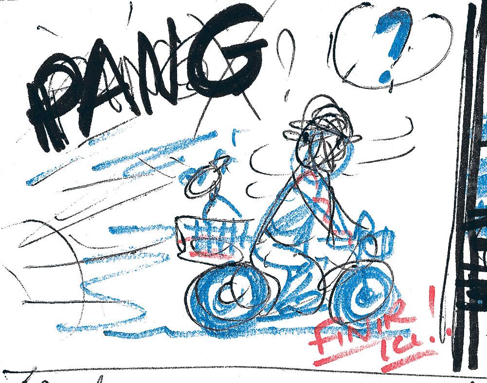 Crayonné d'Hergé Tintin et l'Alph-Art
