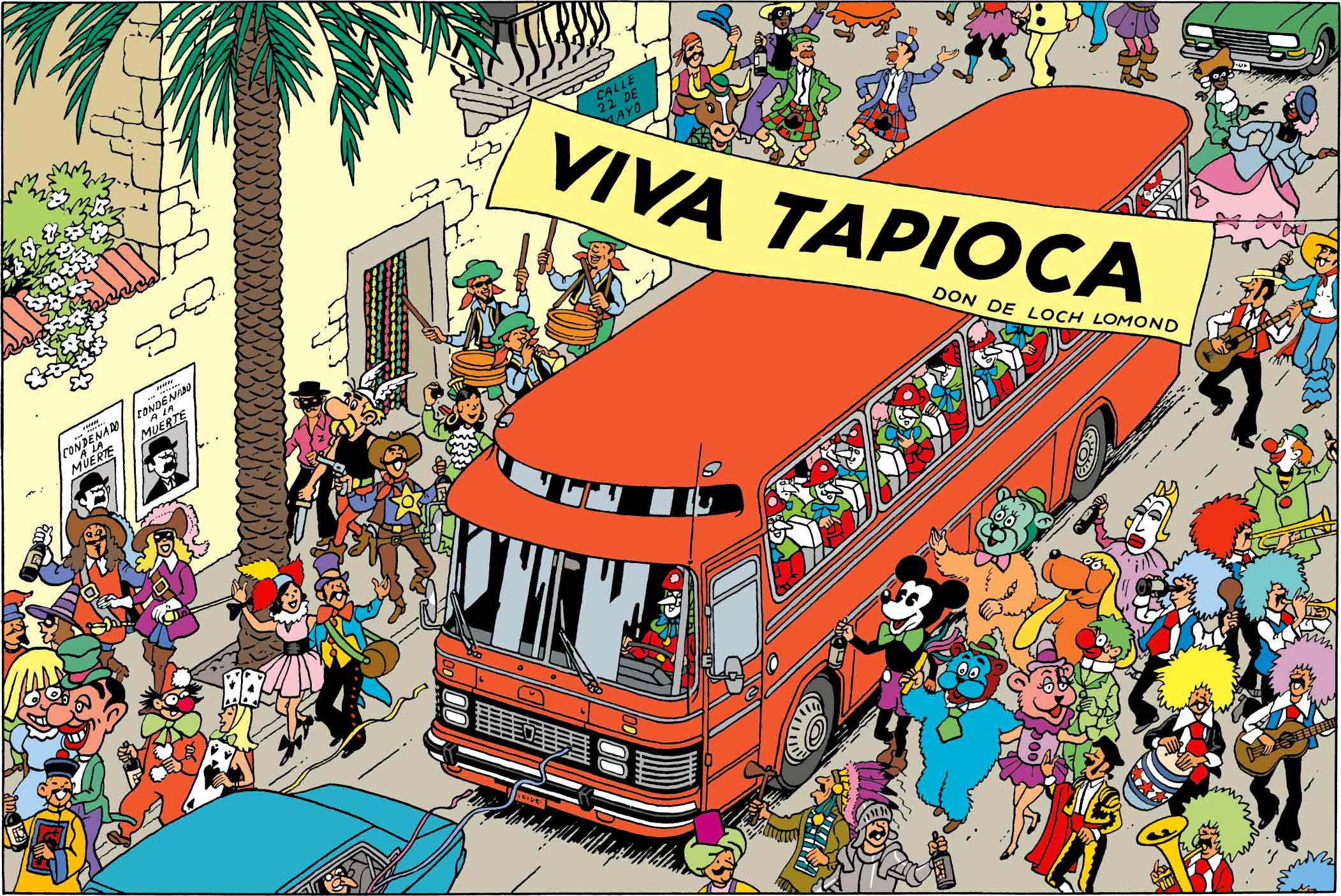 Tintin - Les Aventures de Tintin - Tintin et les Picaros - Asterix - Mickey