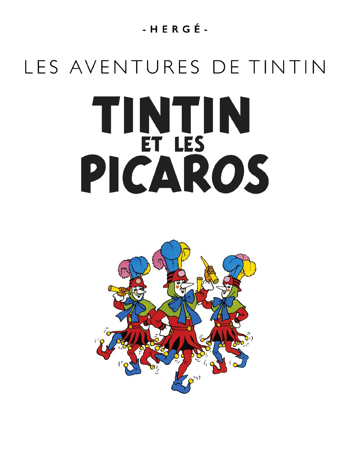 Tintin et les Picaros - Page titre