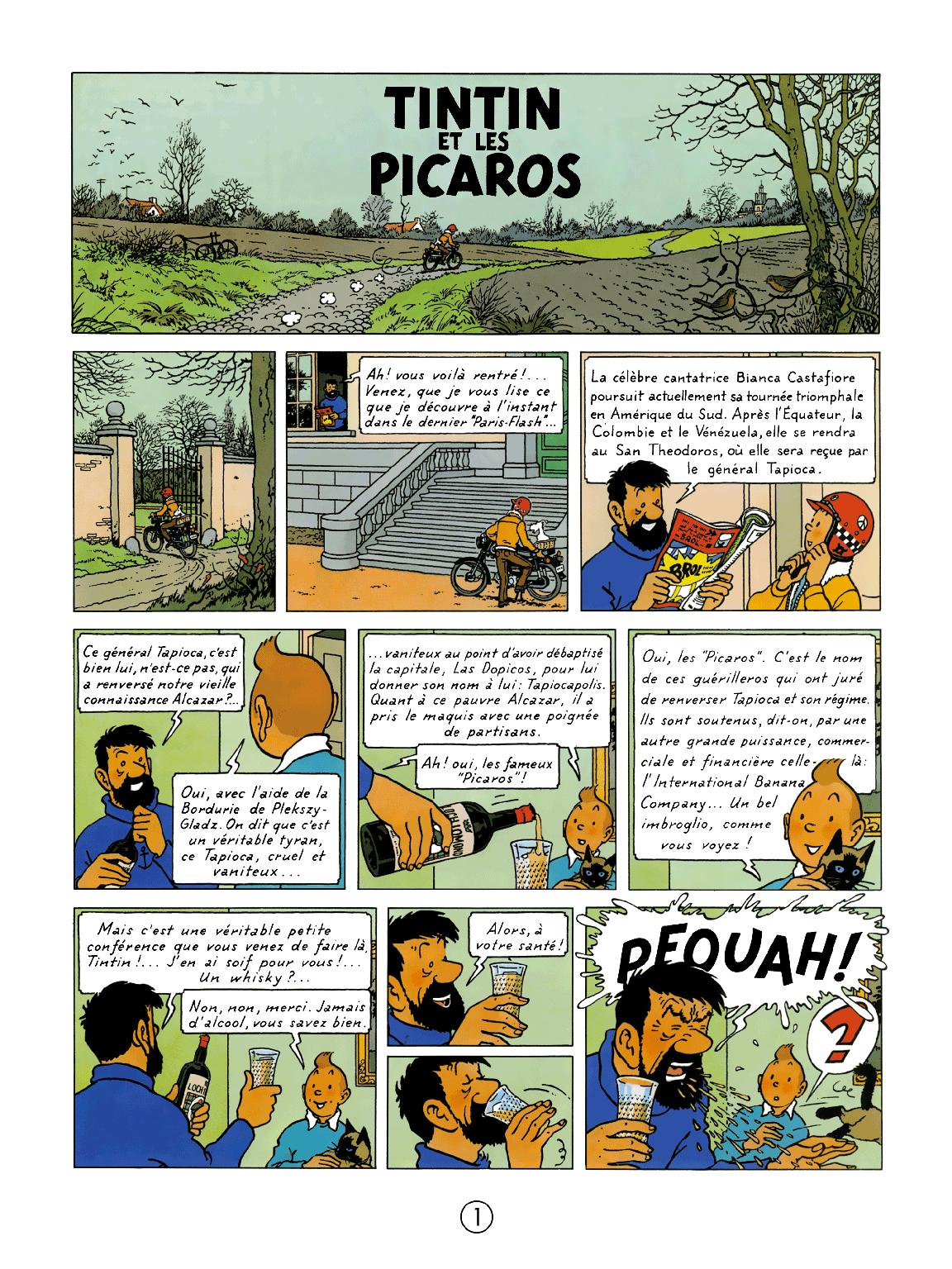 Tintin et les Picaros - Page 1