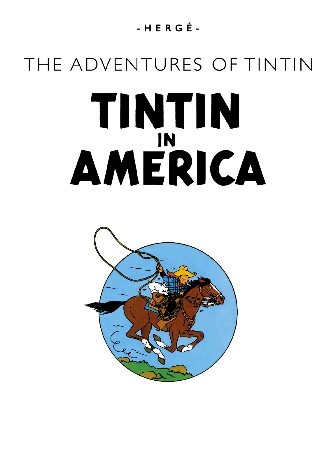 Tintin in America - Title page