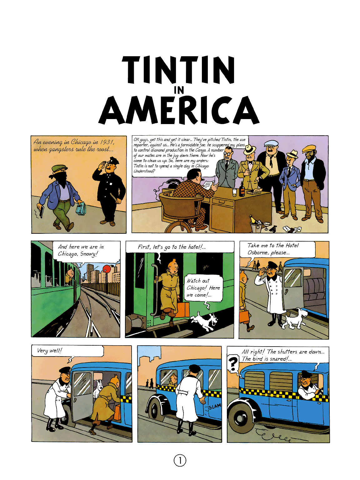 Tintin in America - page 1