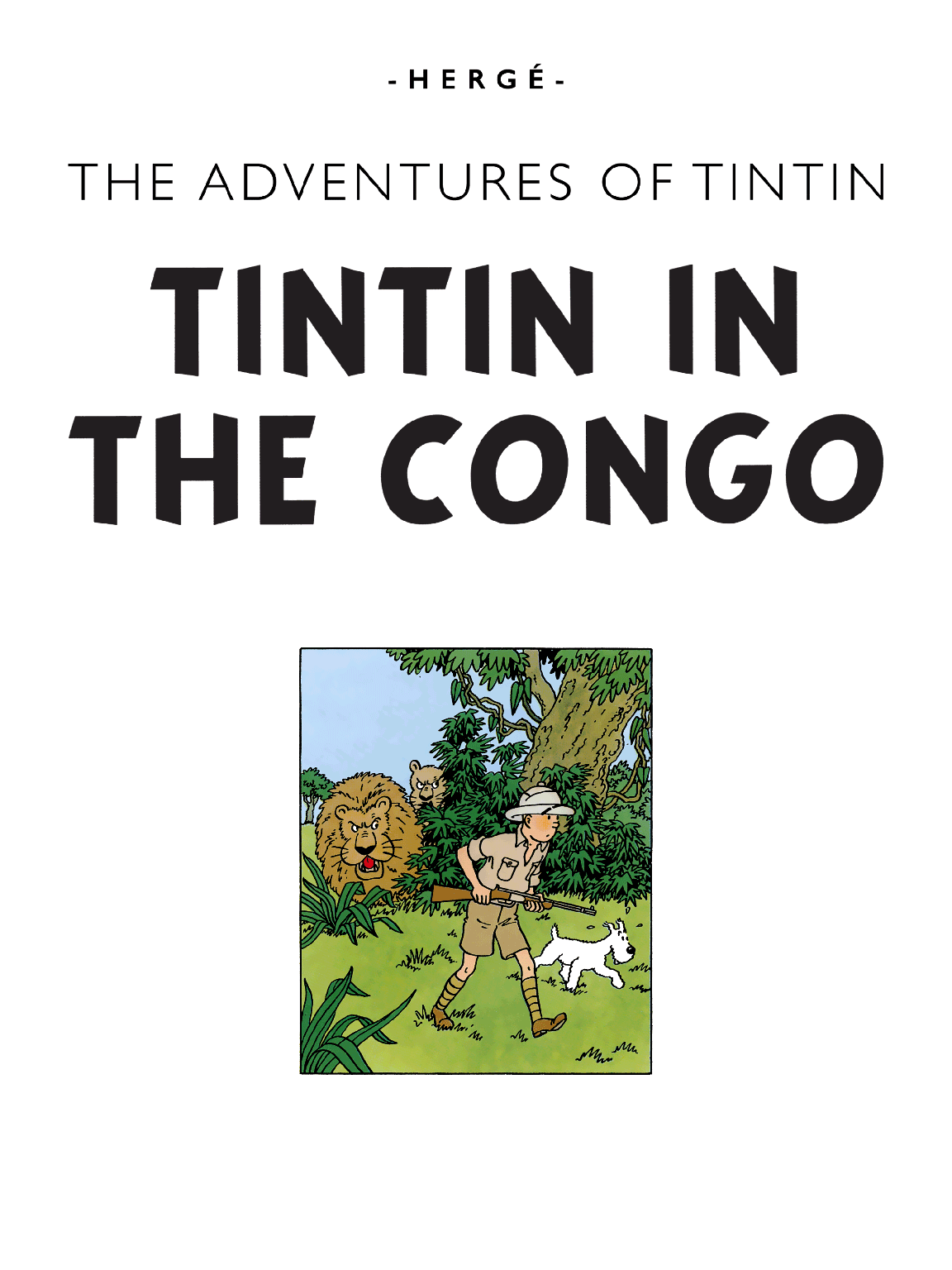 Tintin in the Congo - Title page