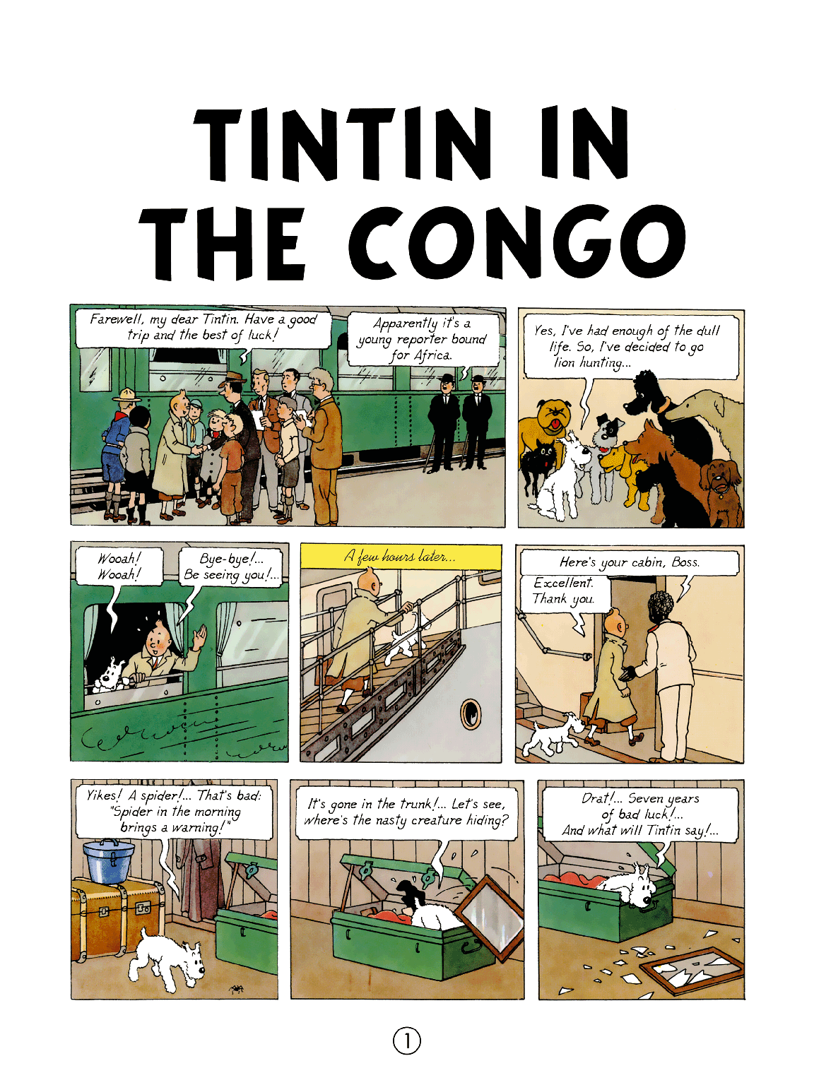 Tintin in the Congo - Page 1