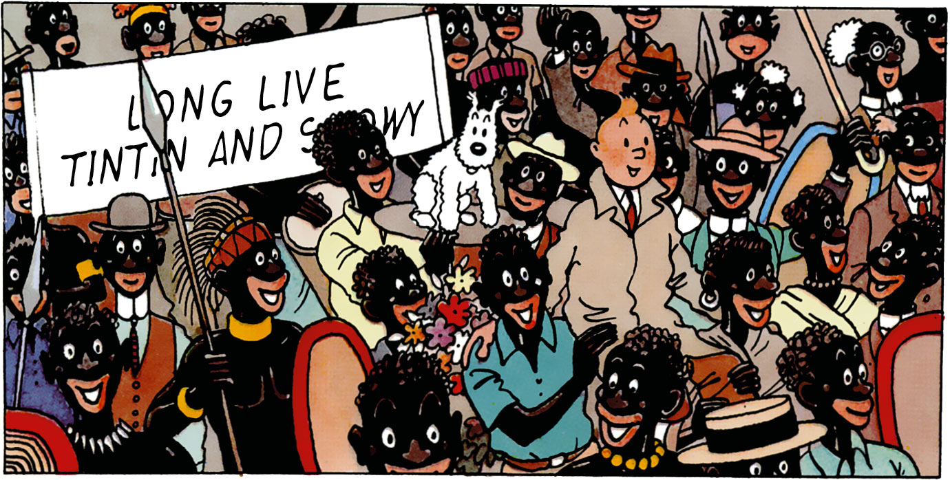 Tintin in the Congo - Long live Tintin and Snowy