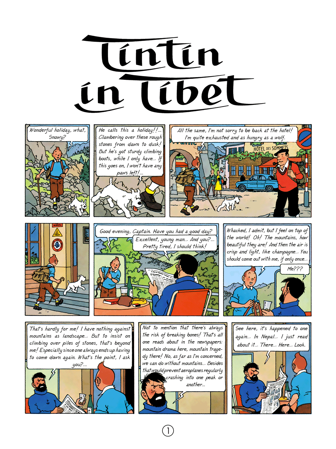 Tintin in Tibet - Page 1