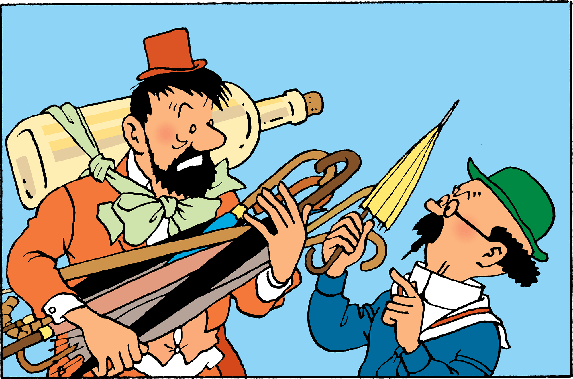 Tintin in Tibet - Haddock experiences a troubling series of hallucinations