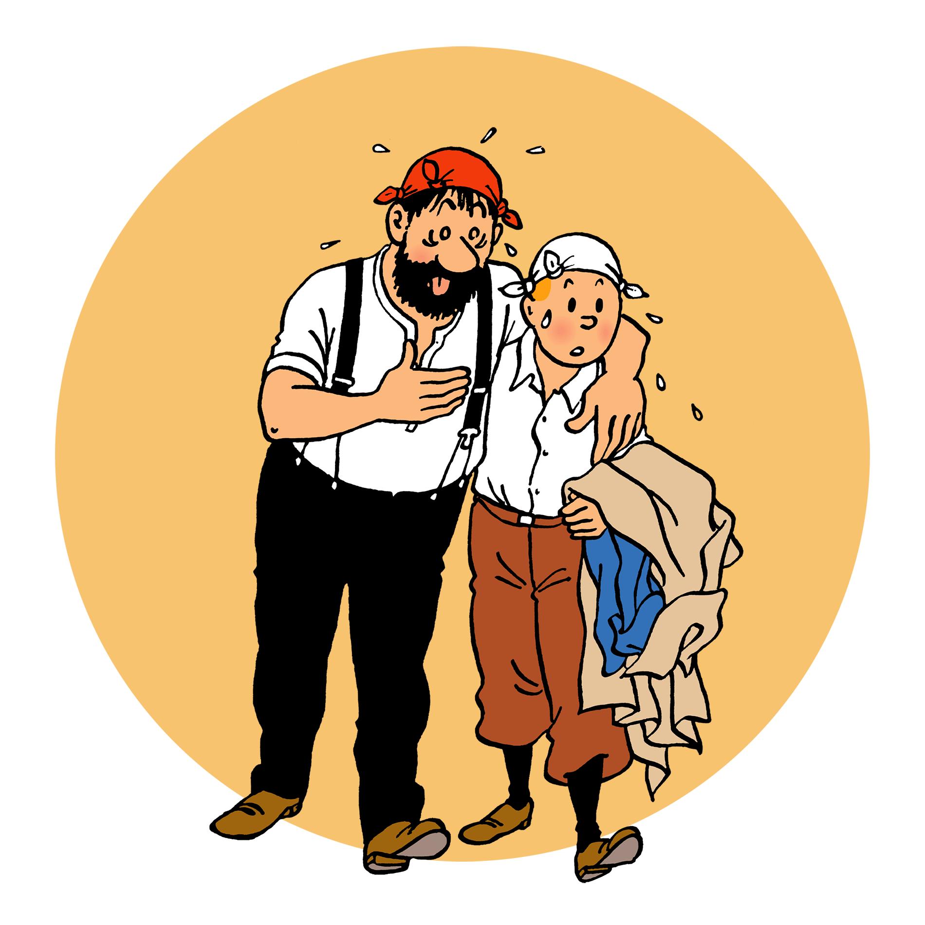 Haddock et Tintin